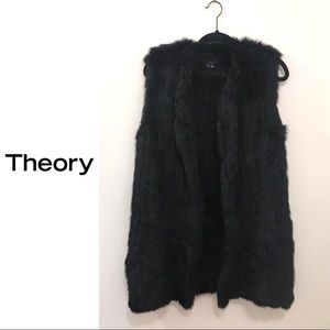 NWT Theory Rabbit Blithe Fur Vest
